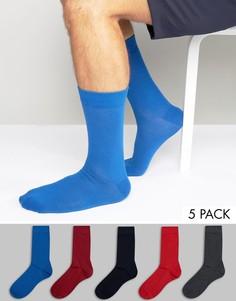 Комплект из 5 пар носков Bjorn Borg - Красный