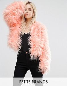 Куртка из искусственного меха MIssguided Petite - Розовый