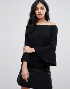 Блузка с вырезом лодочкой Minimum Moves Girah - Черный