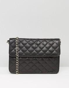 Стеганая кожаная сумка Urbancode - Черный