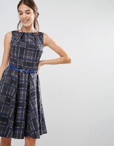 Клетчатое платье с ремнем Closet - Мульти
