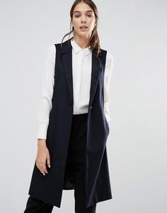 Шерстяной пиджак без рукавов Closet - Темно-синий