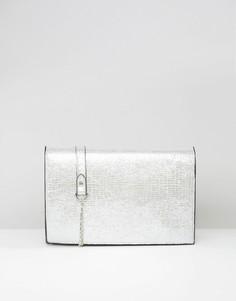 Клатч металлик Yoki Fashion - Серебряный