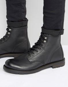 Кожаные ботинки на шнуровке Shoe The Bear - Черный