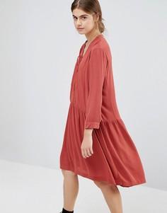 Платье с драпировкой Just Female Canyon - Красный
