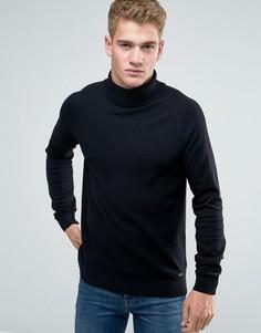 Джемпер крупной вязки с отворачивающимся воротником Threadbare - Черный