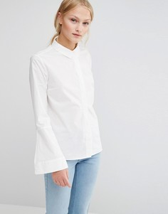 Рубашка с расклешенными рукавами Just Female - Белый