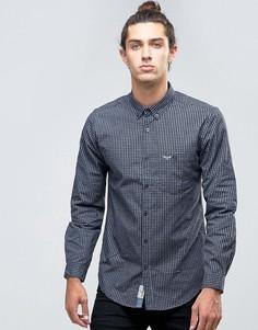 Рубашка в мелкую клетку Threadbare - Темно-синий