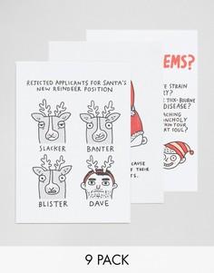 Набор из 9 рождественских открыток Ohh Deer - Мульти