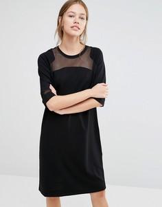 Платье с сеточкой Just Female Osaka - Черный