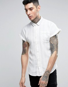 Рубашка в полоску с короткими рукавами Scotch and Soda - Синий