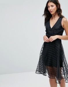 Сетчатое расклешенное платье Girl In Mind Alice - Черный