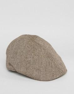 Коричневая плоская кепка Goorin Bushwick - Коричневый