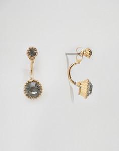 Серьги с камнем DesignB - Золотой
