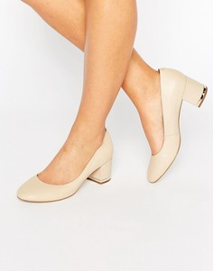 Кожаные туфли на блочном каблуке ALDO Falia - Бежевый