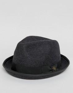 Серая мягкая фетровая шляпа с загнутыми полями Goorin - Серый