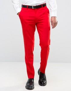 Красные зауженные брюки ASOS - Красный