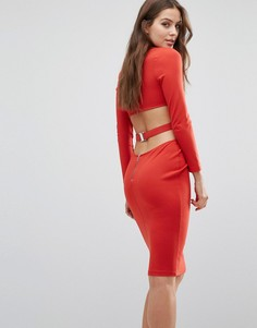 Платье с длинными рукавами Bec & Bridge Trixie - Красный