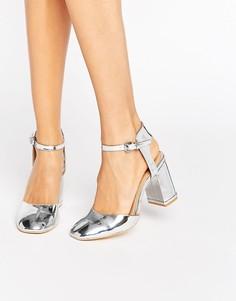 Серебристые туфли на каблуке Glamorous - Серебряный