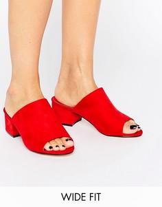 Сабо на среднем каблуке для широкой стопы Truffle - Красный