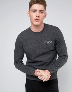 Меланжевый свитшот с маленьким логотипом Jack Wills Barmby - Серый