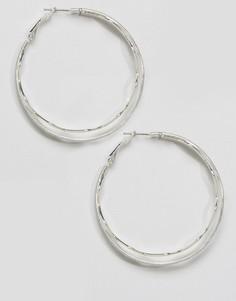 Серьги-кольца Nylon - Серебряный