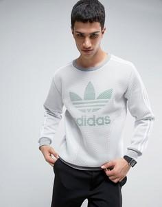 Сетчатый свитер с круглым вырезом adidas Originals - Белый