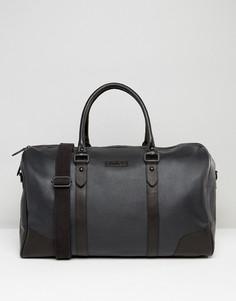 Черная кожаная структурированная сумка Barneys - Черный Barneys Originals