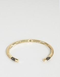 Гематитовый браслет-манжета House Of Harlow - Золотой