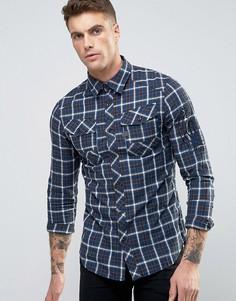 Клетчатая рубашка G-Star - Синий