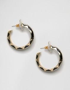 Гравированные серьги‑кольца House Of Harlow - Золотой