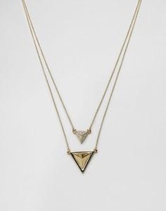 Ожерелье в два ряда House Of Harlow - Золотой