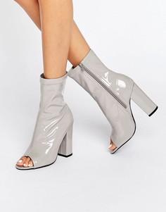 Полусапожки с открытым носком Truffle - Серый