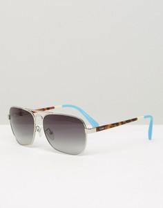 Солнцезащитные очки‑авиаторы в металлической оправе Toms - Серебряный