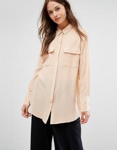 Шелковая блузка Gestuz Vega - Розовый