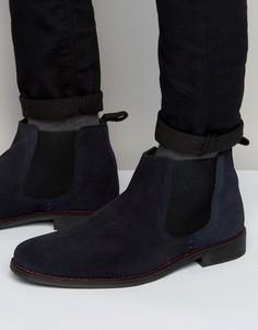 Темно-синие ботинки челси Lambretta - Синий