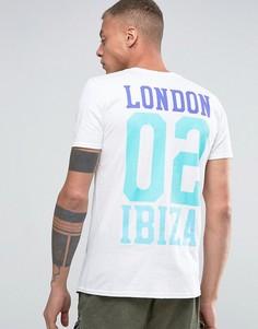 Футболка с принтом сзади Abuze London x Amnesia 02 Ibiza - Белый