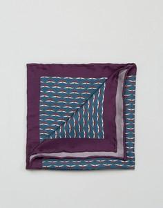 Шелковый платок для пиджака с принтом Original Penguin - Фиолетовый