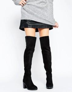 Ботфорты на блочном каблуке Public Desire Lisa - Черный
