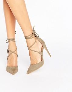 Туфли на каблуке с завязками Public Desire Hailey - Зеленый
