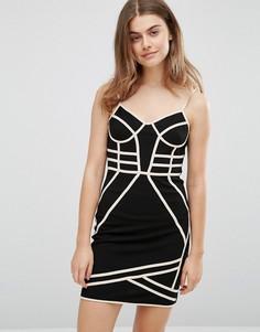 Облегающее платье с бретельками Parisian - Черный