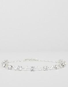Фигурное ожерелье с кристаллами Swarovski от Krystal - Серебряный