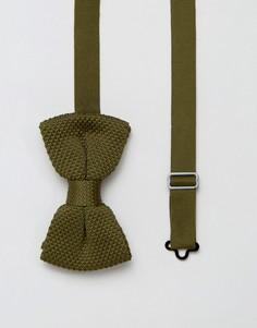 Вязаный галстук-бабочка 7X - Зеленый
