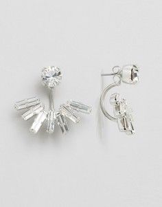 Серьги-подвески с кристаллами Swarovski Krystal - Серебряный