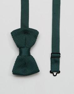 Вязаный галстук-бабочка цвета хаки в футляре 7X - Зеленый