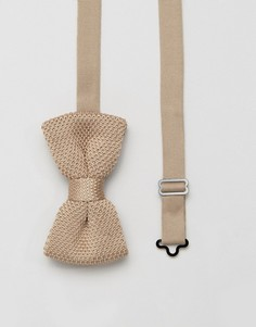 Вязаный галстук-бабочка 7X - Бежевый
