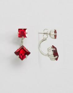 Серьги с кристаллами Swarovski от Krystal - Красный