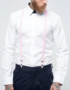 Зауженные розовые подтяжки 7 X - Розовый 7X