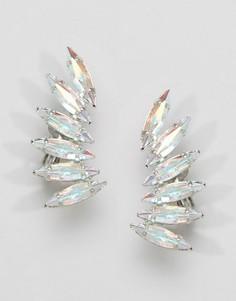 Каффы с кристаллами Swarovski Krystal - Серебряный