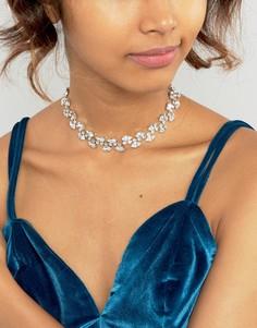 Ожерелье-чокер с кристаллами Swarovski от Krystal Marquees - Прозрачный